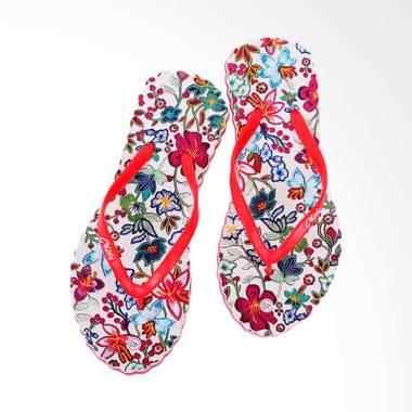 Chika Sandal Batik Sandal Wanita - Merah