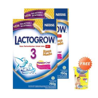 Buy 2 - Nestle Lactogrow 3 Madu Sus ... ee MamyPoko Standar [L/8]