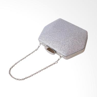 Red Wine IB0729 Clutches - Silver