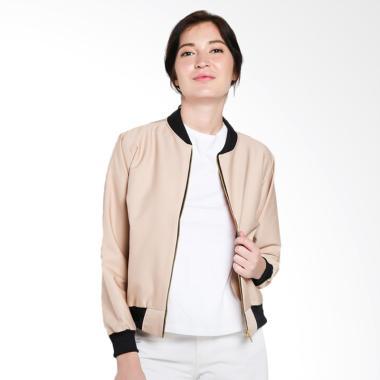 Papercut Fashion NK Brunette Bomber Jacket Wanita - Cream