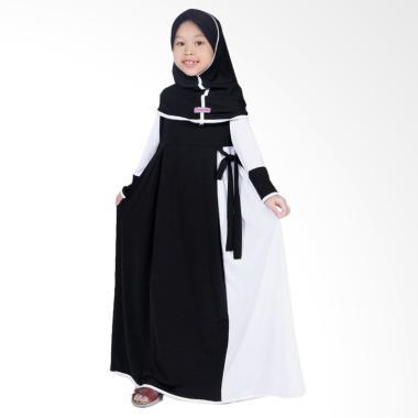 BajuYuli Jersey Baju Muslim Anak Perempuan - Hitam Putih