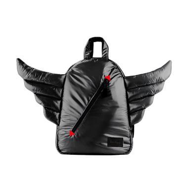 7 A.M. Mini Wings Backpack Tas Ransel Anak - Black