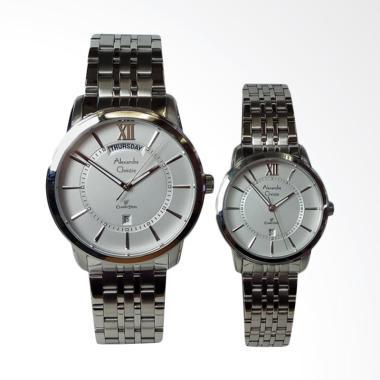 Alexandre Christie Classic Jam Tangan Couple - Silver [AC8557ME/LD]