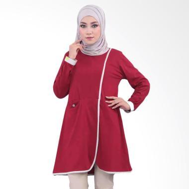 Vemmella Topaz 08 Atasan Baju Muslim Wanita - Merah