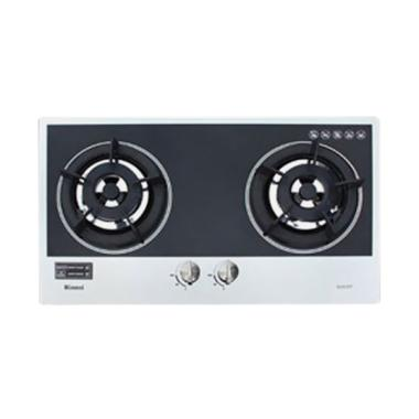 Rinnai RB-2GH-C MB Built In Hob Kompor Gas - Black Silver [2 Tungku]