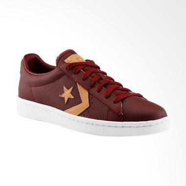 Converse Pro Leather 76 Ox Sneakers Sepatu Pria - Brown [155665C]