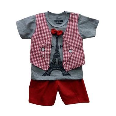STB Kids 1251 Setelan Baju Bayi Laki-Laki - Red