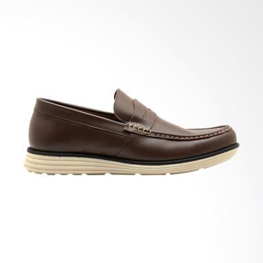 Brodo Senza Slip On Sepatu Pria - Brown IS
