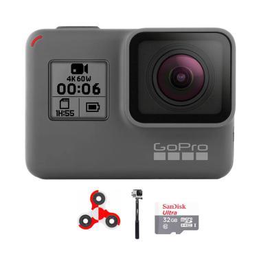 GoPro Hero 6 Combo Attanta Supreme 32 GB Spin Action Camera - Black