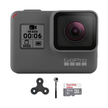 GoPro Hero 6 Combo Attanta Supreme 32GB Spin Action Camera - Black