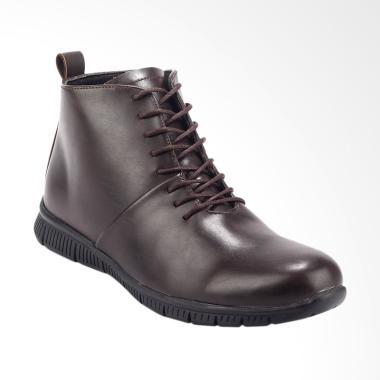 Giant Flames Padma Ankle Boots Sepatu Formal Pria - Brown