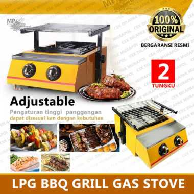 harga NIKO NK GR2 -LPG BBQ Grill Gas Stove 2 Burner - Panggangan Tanpa asap Blibli.com