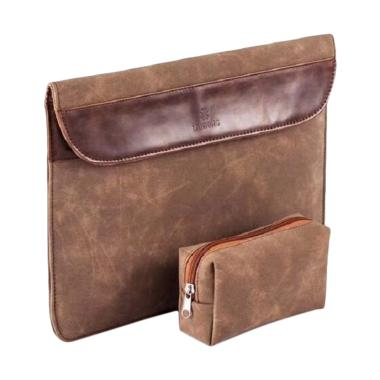 ... LAIWONG Leather Sleeve Softcase Tas Laptop for Macbook 15 Inch