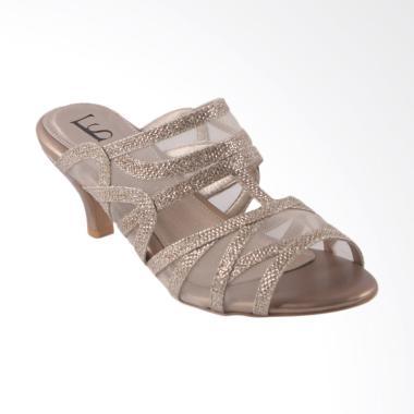 Farish Albira Sandal Heels Wanita - Gold