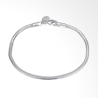 Bella & Co LKNSPCH187 Simple Lapis Silver Bracelet Gelang