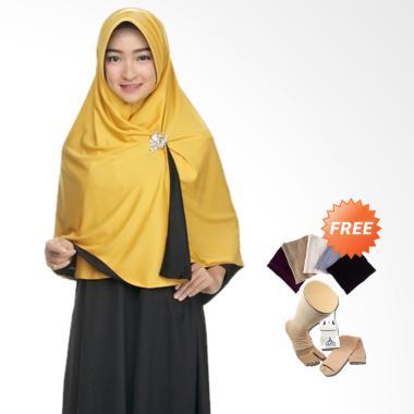 Zannah Hijab Syari Bolak Balik Jilb ... r rajut + Kaos Kaki Wudhu