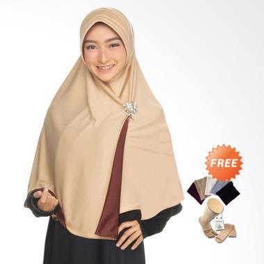 Zannah Hijab Syari Bolak Balik Jilb ...  + Free Inner + Kaos Kaki