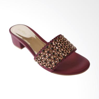Red Wine RW109 Sandal Pesta Wanita - Maroon