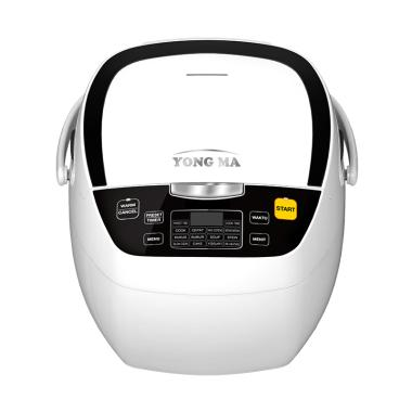 Free Gift - Yong Ma YMC-801W Digital Rice Cooker - White [2 L]