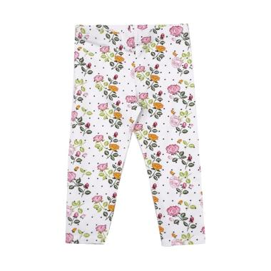 Kids Icon Baby Girls Flower Print Celana Legging Anak Perempuan