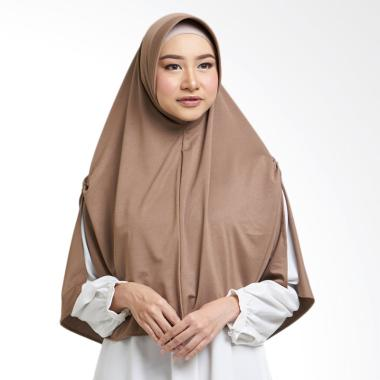 Cotton Bee Inara Khimar Jilbab Instan - Choco