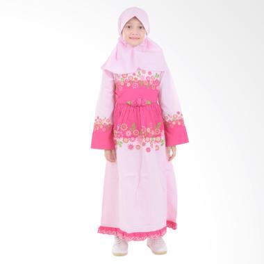 Jesca and Paul Ayesha 208 Gamis Baju Muslim Anak - Magenta