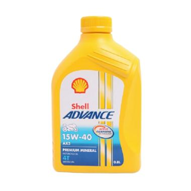 Shell 4T 15W 40 Advance AX5 Scooter Oli 08 L