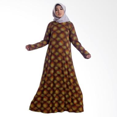 MIMUMOO Payung Gamis Kaftan Dress Muslimah Syar'i - Orange