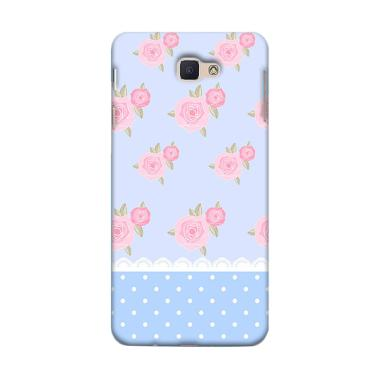 Premiumcaseid Cute Shabby Chic Blue Pink Rose Hardcase Casing For Samsung Galaxy J7 Prime