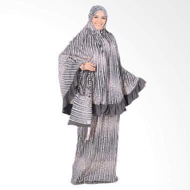 Boontie Arabela Shaqueena Motif Salur Mukena - Abu abu