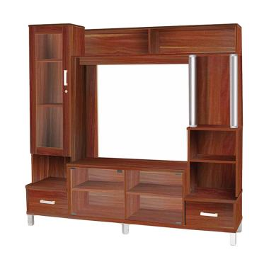 Super 895 Wall Unit TV - French Walnut [Khusus Jabodetabek]