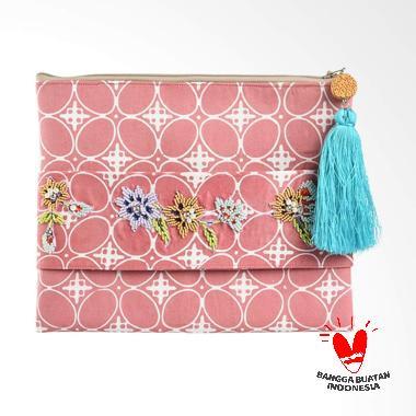 Origo Batik Pouch Bag - Pink White [25 x 20 cm]