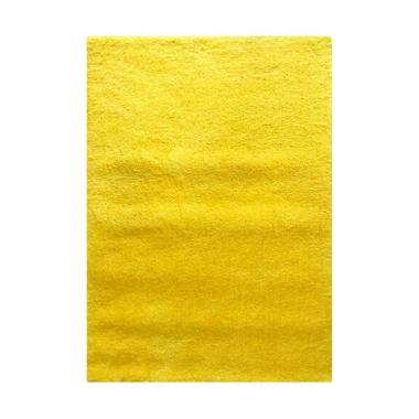 Vision Soft Shaggy Polos Karpet - Yellow [110 x 160 cm]