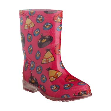 AP BOOTS Burung Angry Bird Sepatu Boots Anak Perempuan - Fuschia Pink