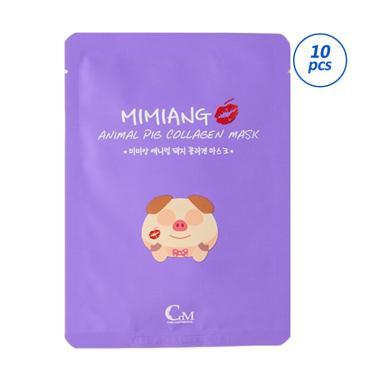 Mimiang Animal Pig Collagen Mask Masker Wajah [10 pcs/ Box]