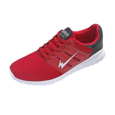 Eagle Star Walker Sepatu Lari Pria - Red Black