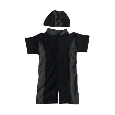 Rainy Collections Baju Renang Bayi Unisex dengan Topi - Lis Grey