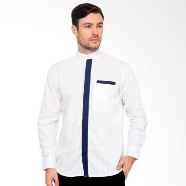 Efesu Andel Baju Koko - Putih Kombinasi Biru
