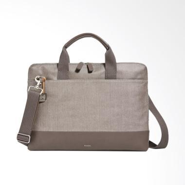 Skagen Peder Leather Slim Briefcase Tas Pria - Grey [SMH0115023]