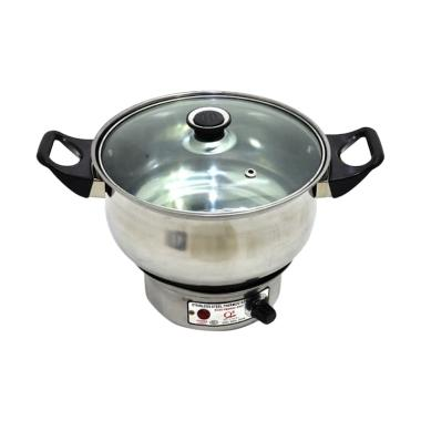Q2 Electric Heating Pot Panci - Silver