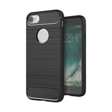 LOLLYPOP Back Case Brushed Series Iphone 7/8 - Black TPU Jelly Silicone Softcase BackCover