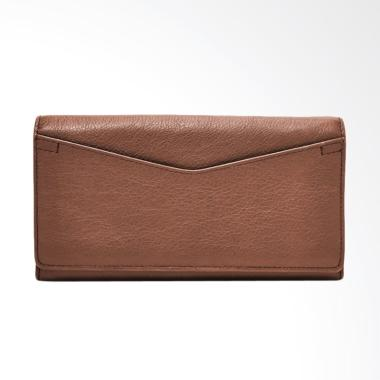 Fossil Caroline Leather Dompet Wanita - Dark Brown