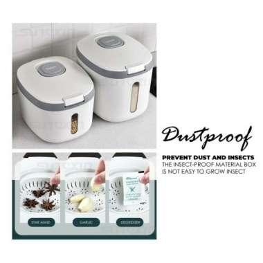 harga Dispenser Beras-Container Beras-Box Beras-Dispenser Beras 5 kg - Abu-abu 5 kg Multicolor Blibli.com