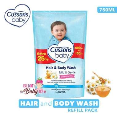 harga Cussons Baby Hair & Body Wash Mild & Gentle Sabun Shampo Bayi 750 ml Berry Baby Blibli.com