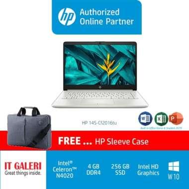 harga HP 14S-CF2516TU CELERON-N4020/4GB/256GB/14.0/WIN10+OHS2019/SILVER/483S2PA Blibli.com