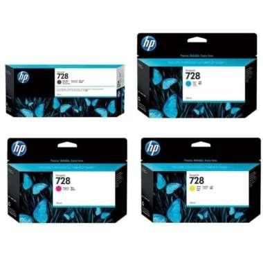 harga Paket Tinta HP 728 Matteblack 300ml & Colour (Plotter) ORIGINAL Multicolor Blibli.com