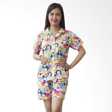 Aily AJ015 Motif Tsum Tsum Setelan Baju Tidur Wanita