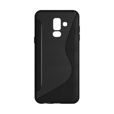 OEM S-Line Carbon Casing for Samsung Galaxy A6 Plus 2018