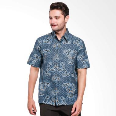 Batik Adikusuma Men Hem Batik Kemeja Pria - Biru [542139048]