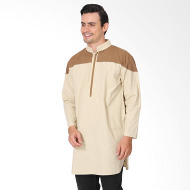 Zayidan Muzaffar Baju Muslim Gamis Pria - Cream